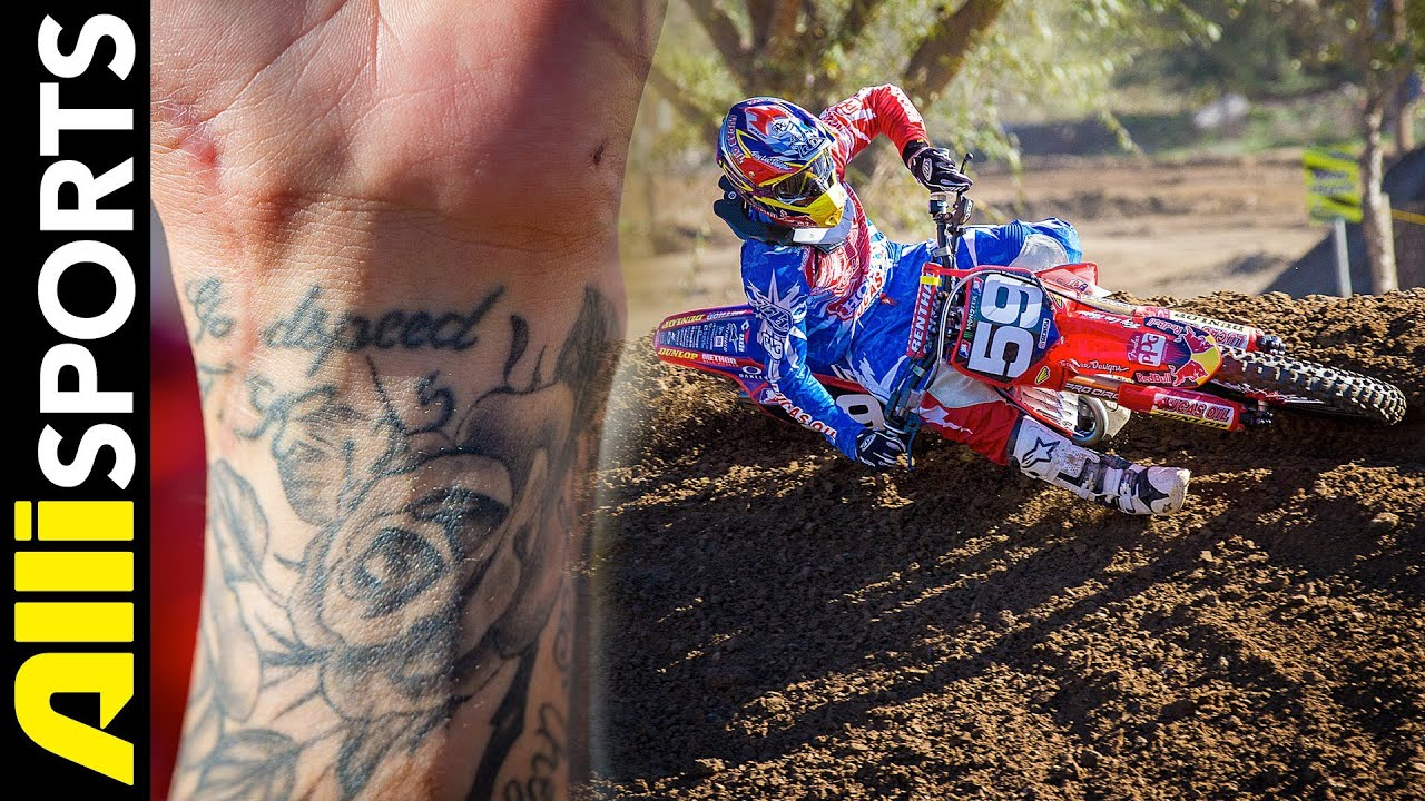 Christian Craig S First Tattoo Story Quot Godspeed Quot Alli Sports Motocross Under The Gun Youtube