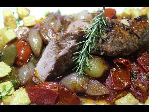 Receta de solomillo al horno con verduras receta de - Solomillo de ternera al horno con mostaza ...