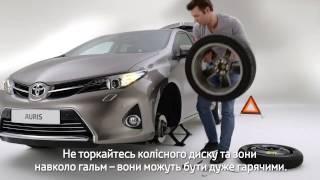 Как поменять запасное колесо на автомобиле Toyota