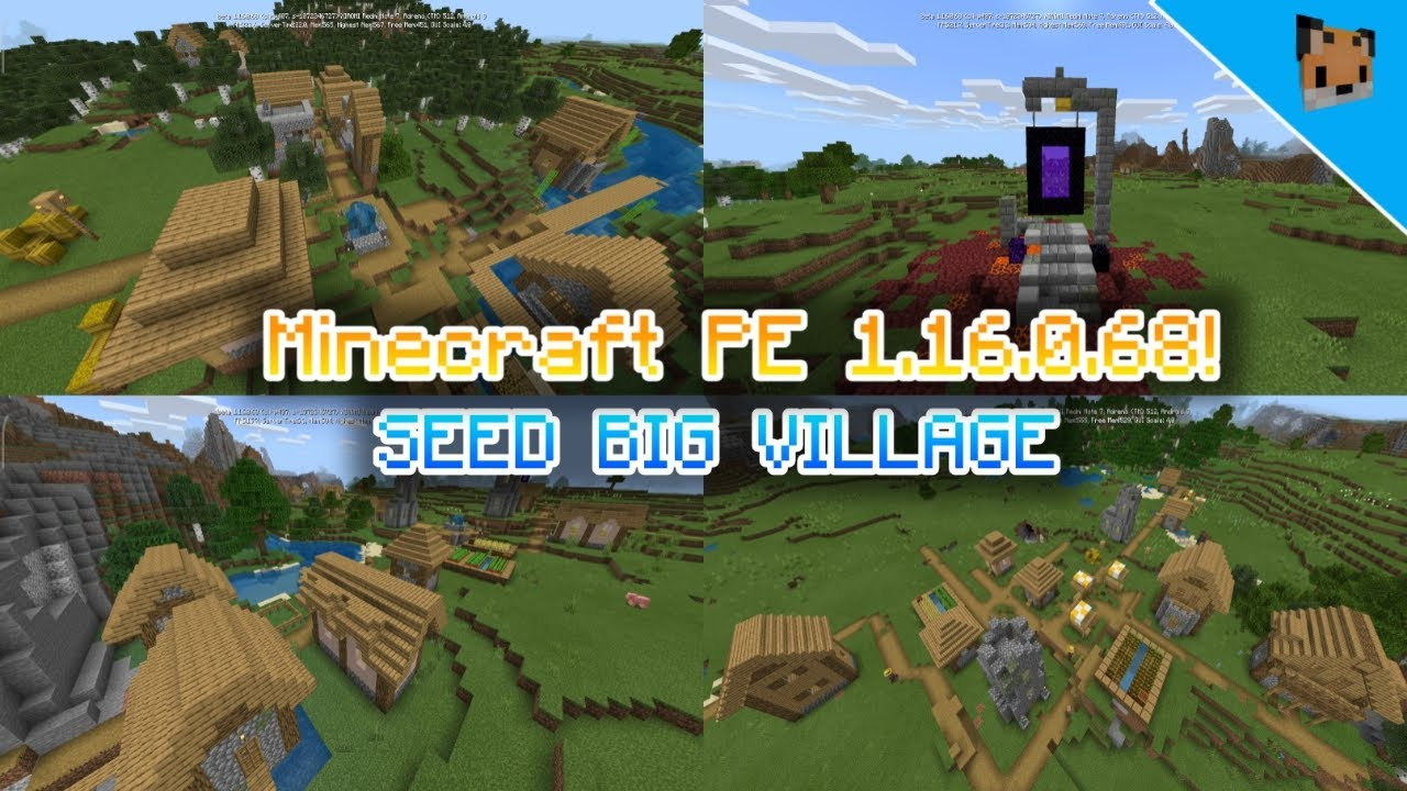 Minecraft Pe 1 16 0 68 Seed Village Mcpe 1 16 0 68 Best Seed For Survival Youtube