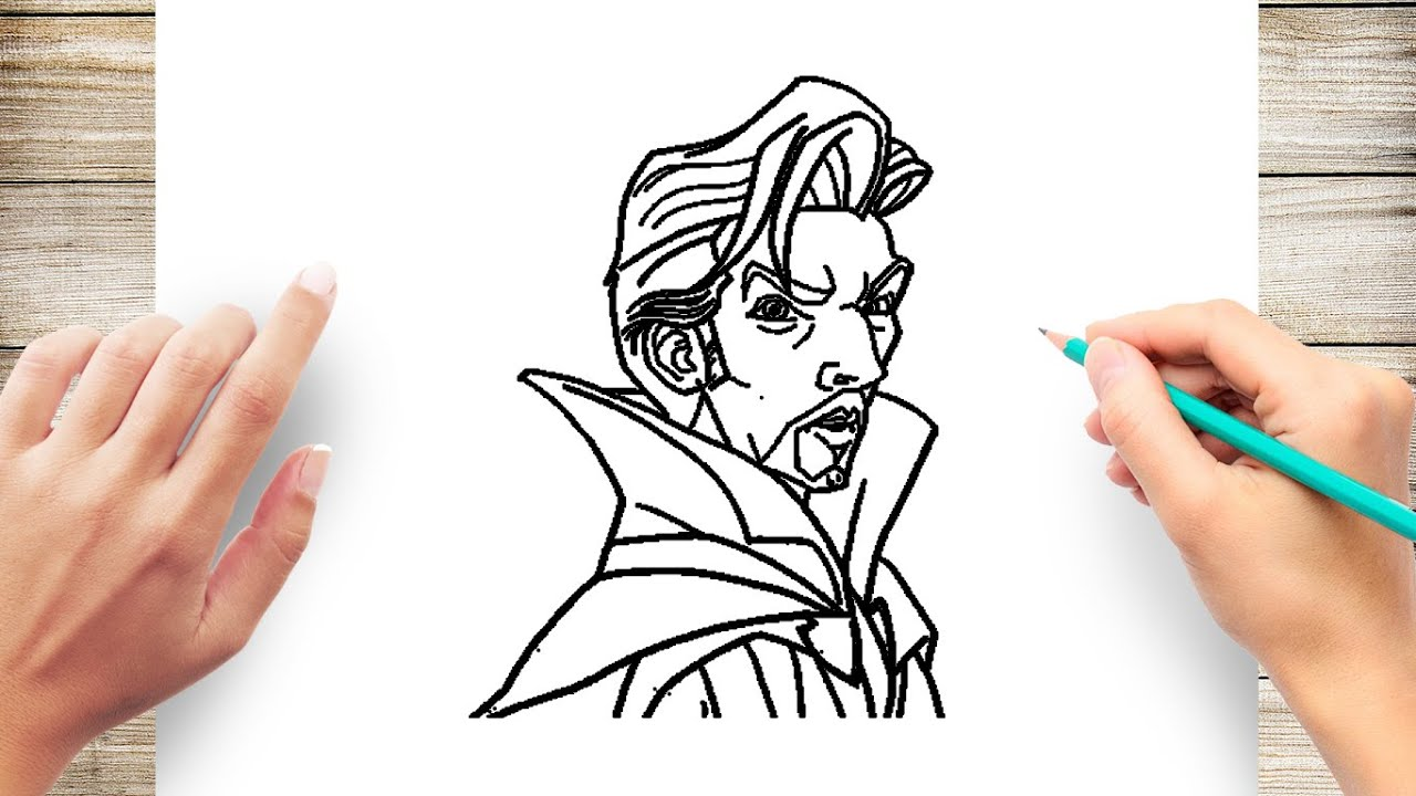 How To Draw Dr Strange