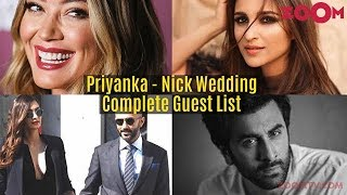 Priyanka Chopra & Nick Jonas Wedding - Complete Guest List