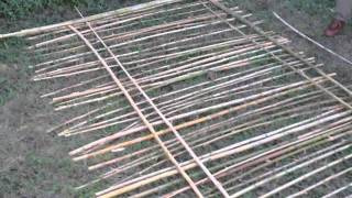 Constructing Bamboo Fence Pt. 1