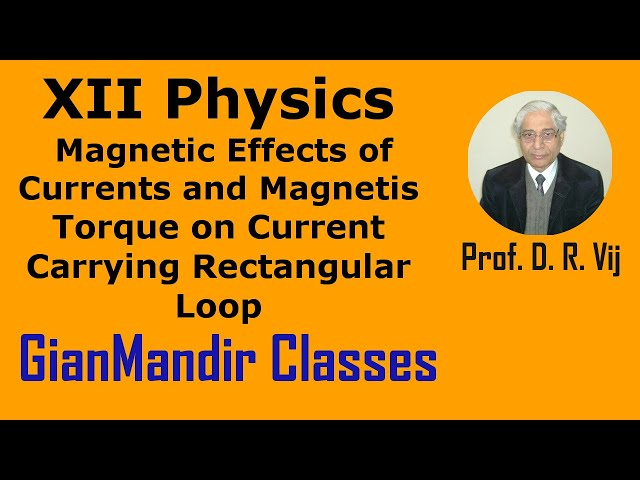 XII Physics | Torque on Current Carrying Rectangular Loop by Himanshu Sir