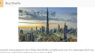 50 Tourist Attractions in Dubai U.A.E