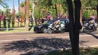 Sen. John McCain's Arrival at State Capitol
