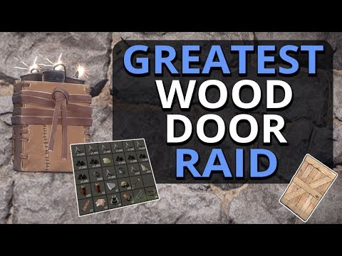 The GREATEST Wood Door Raid EVER?!? Rust Solo Survival Gameplay