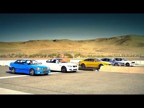 BMW M4 vs. All BMW M3 E92, E46, E36 & E30 Drag Race - Forza 6