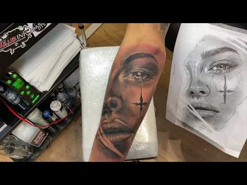 HOW TO TATTOO: SHADING & LAYERING A LARGE PORTRAIT TATTOO TIME-LAPSE