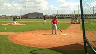 2012 Red Sox Spring Training, Dustin Pedroia works on bunting