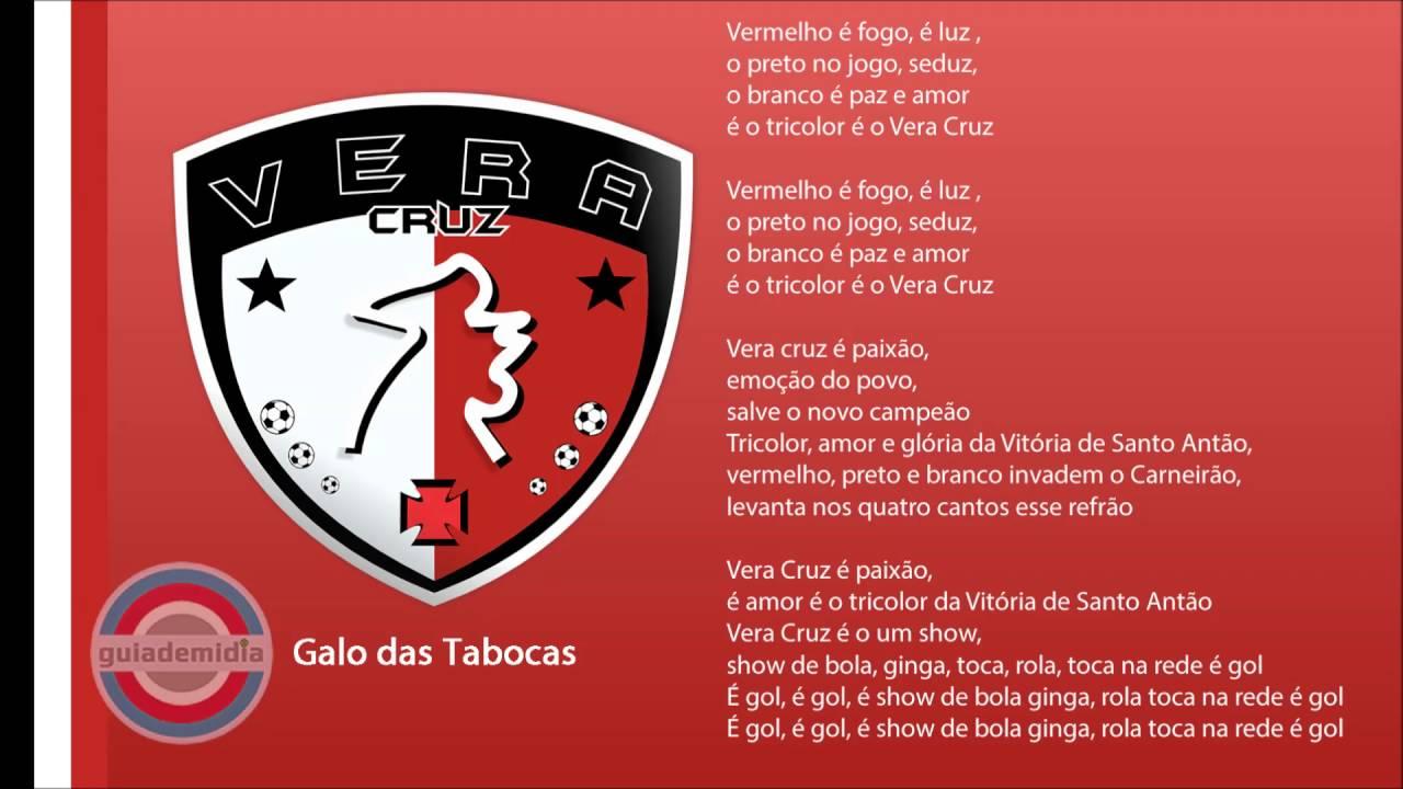 bb2b2d3392 Hino do Vera Cruz Futebol Clube ( PE ) - YouTube