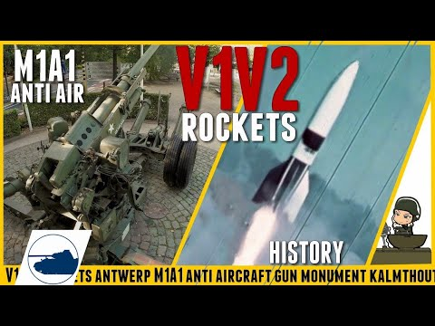 M1A1 Anti Air Monument - V1 V2 Battle for Antwerp - History.