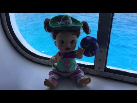 Baby Alive Snackin Sara Goes To Cozumel Mexico On Carnival Cruise - Baby on cruise ship