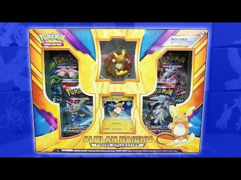 Download Youtube: Opening a BRAND NEW Alolan Raichu Figure Collection Box of Pokemon Cards!