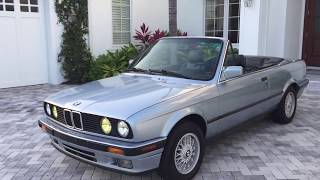 1992 BMW 325i Convertible E30 Review and Test Drive by Bill Auto Europa Naples