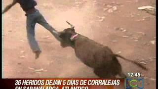 Corralejas en Sabanalarga, Atlántico, dejan 36 heridos en 5 días
