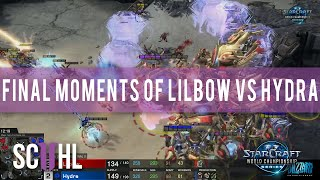 The Final moments of Lilbow vs Hydra - WCS Season 3 Finals