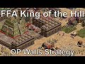 Aoe2: Epic FFA King of the Hill (Wall Strategy OP)
