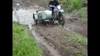 По грязи на мотоциклах(Графский ручей)