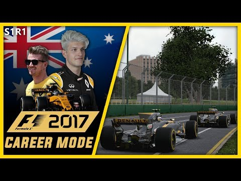 POINTS ON OUR DEBUT??? F1 2017 CAREER MODE PART 1 l AUSTRALIA!!
