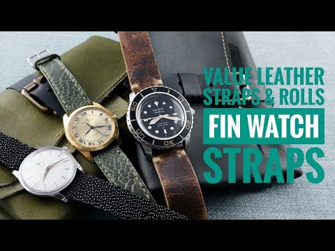 Great Value Custom Leather Straps & Watch Rolls From Fin Watch Straps | WATCH CHRONICLER
