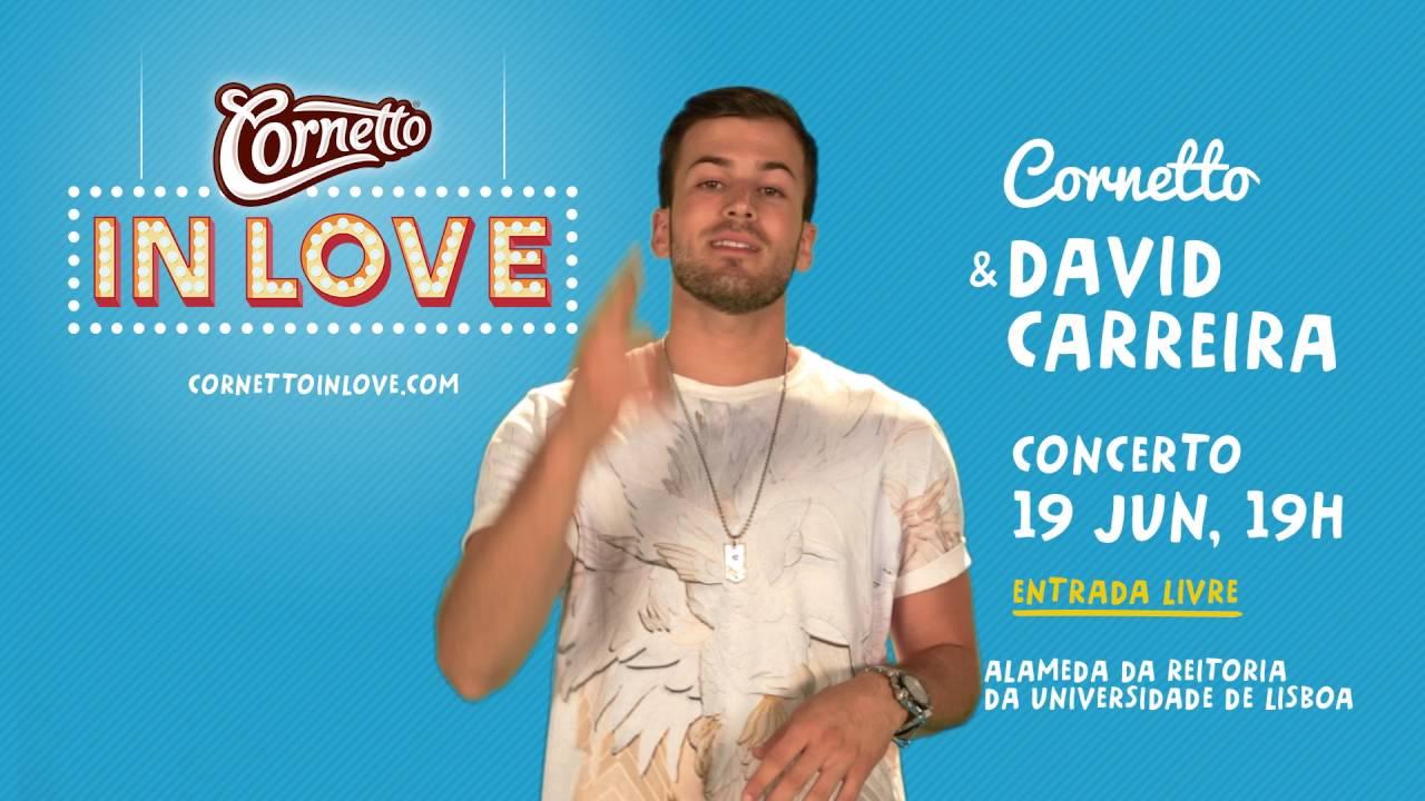 Cornetto & David Carreira: concerto no dia 19 de junho
