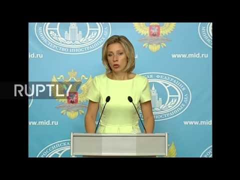 LIVE: Russian Foreign Ministry's Zakharova holds press briefing in Moscow