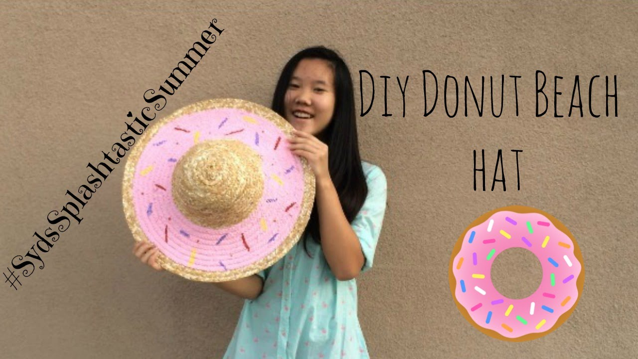 DIY doughnut beach hat - YouTube 9d03e0e7c35