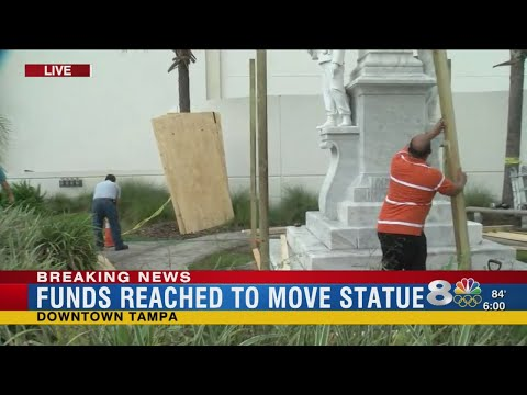 Campaign to relocate Confederate statue in Tampa meets fundraising goal