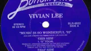 Vivian Lee, Music Is So Wonderful, Wonderdub