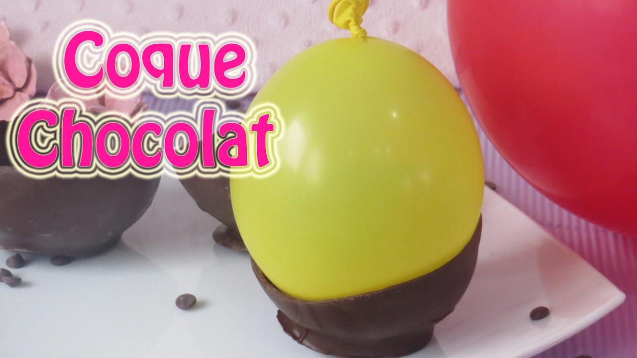 comment faire une coque en chocolat avec un ballon youtube. Black Bedroom Furniture Sets. Home Design Ideas