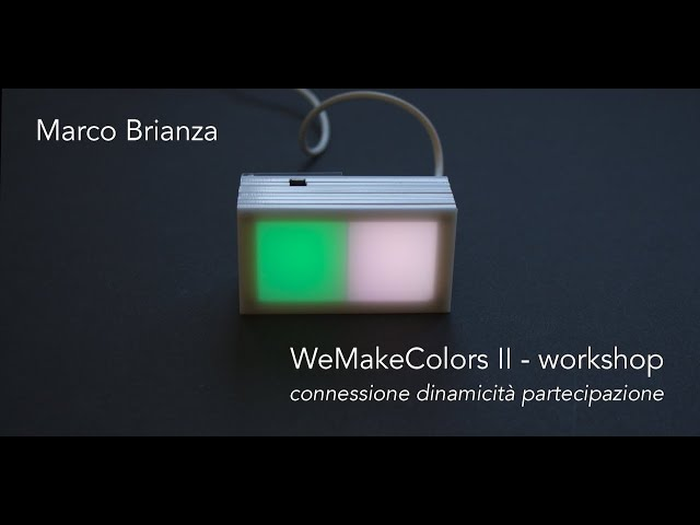 Luce e Colore tra Arte e Design | Marco Brianza - WeMakeColors II - workshop