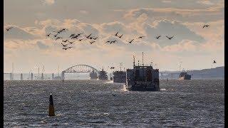 КРЫМСКИЙ МОСТ.Строительство сегодня 20.11.17.Автоподходы к Керченскому мосту. Керченский мост онлайн