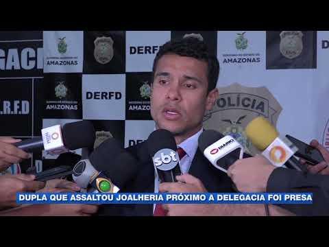 Polícia prende dupla suspeita de roubar joalheria perto de delegacia