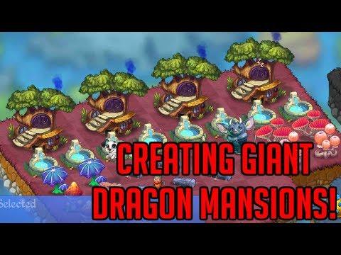 Creating Giant Dragon Mansions - Max Level Dragon Homes | Merge Dragons