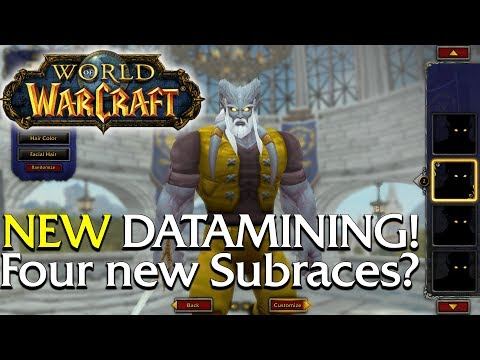 Four Playable Subraces Datamined? Lets check them out in game! | World of Warcraft