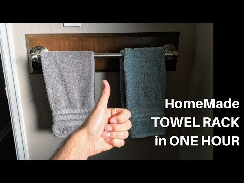 HomeMade Bathroom TOWEL RACK