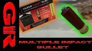Multiple Impact Bullet 12 Gauge - Ballistic Gelatin Test