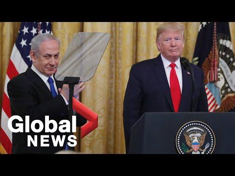 Donald Trump Unveils Middle East Peace Plan Alongside Benjamin Netanyahu