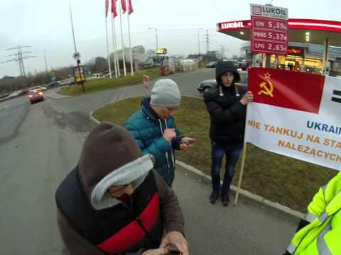 Okiem reportera 30. Protest ukraińców pod stacją paliw Lukoil