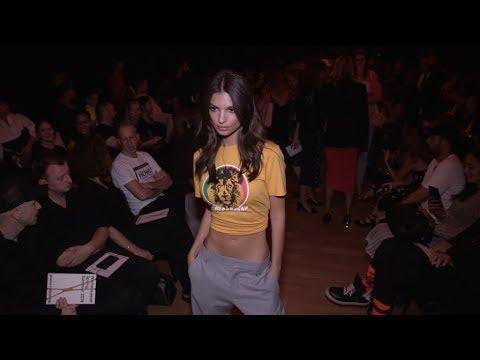 Emily Ratajkowski, Jordan Barrett and more at Paco Rabanne Fashion Show