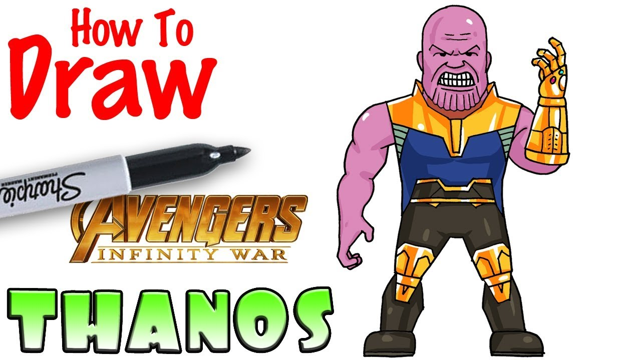 How To Draw Thanos Avengers Infinity War Youtube