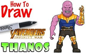How to Draw Thanos | Avengers Infinity War