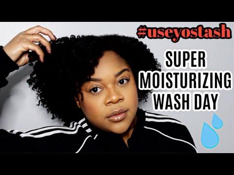 #useyostash   Type 4 Natural Hair Fall/Winter Moisturizing Wash Day Routine