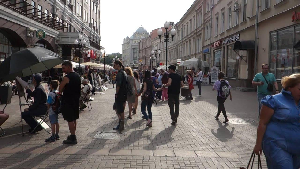 Arbat Street Main Walking Street In Moscow Russia 27/7 ...