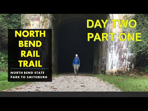 NORTH BEND RAIL TRAIL - Solo Thru Hiking - Day TWO Part One (North Bend State Park To Smithburg, WV)