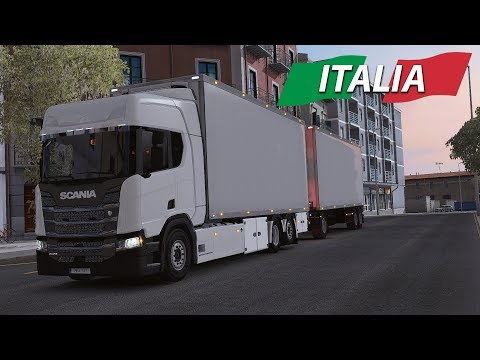 ETS2 - Italy DLC - New Generation Scania TANDEM - Bari to Catania - Beautiful Scenery