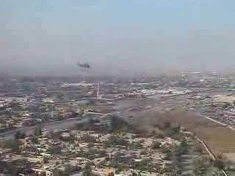 Flying over Baghdad