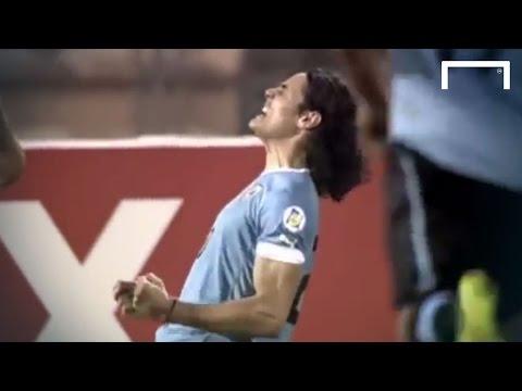 Edinson Cavani's magical free-kick - Jordan v Uruguay