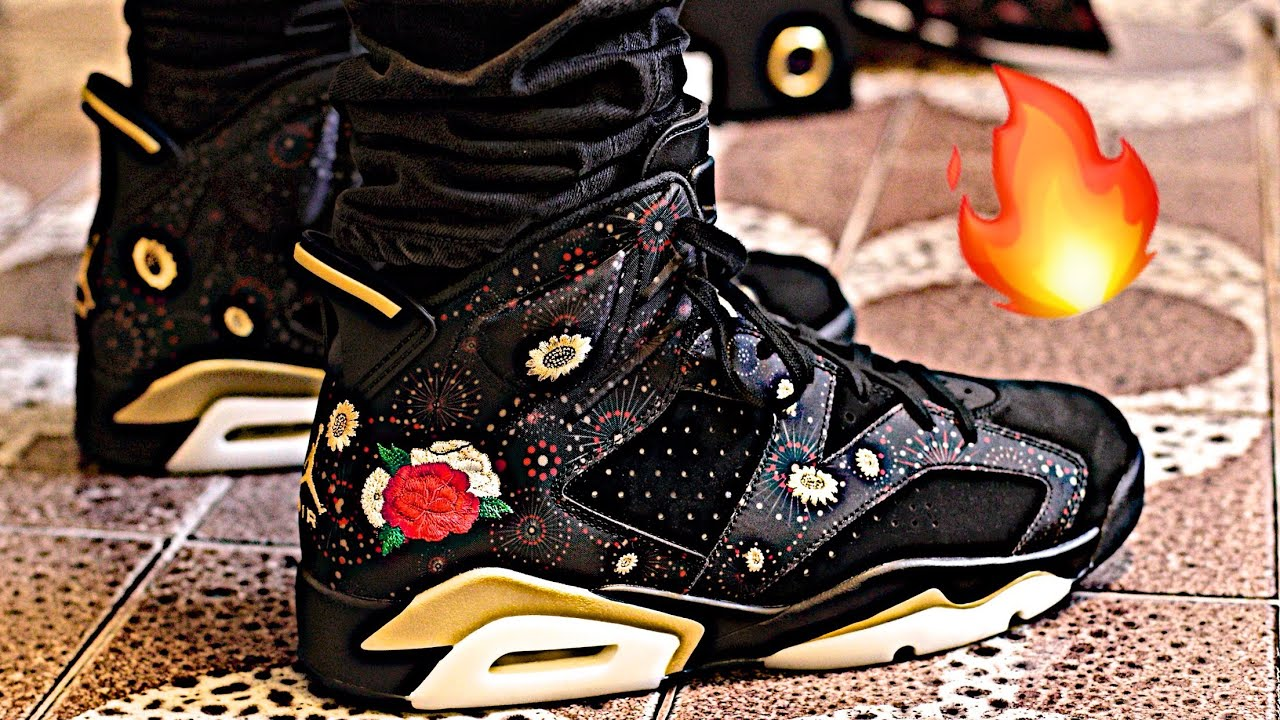 b88b853394a Nike Air Jordan 6 Retro CNY Chinese New Year 2018 Floral Themed Sneaker  Unboxing and On-Foot